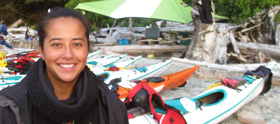 Alejandra Machuca, Kayaking Guide